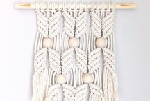 DIY: weaving and macrame