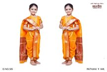 Ready-Made Kids Saree Collection! / Ready Made Sarees, no hassle of tying up. Just put them like any other dress! Maharashtrian Sarees! Elegant Designer Sarees for Kids! / by mybabycart.com