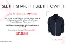 The Love List - #AllNewLoveAffair / Check out the Rock N Shop love list. Like, share, pin or tweet the product you fall in love with and get a chance to own them! View the love list here http://www.rocknshop.com/shop-alerts/shop-the-edit.html