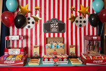 "Movie Night Party Ideas / Romance, comedy, horror or drama. Don't forget to decorate your table with ""movie nigh""t themed party supplies."