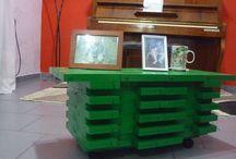 Inventodo, decoración de interiores / Decoración a partir de reciclados.