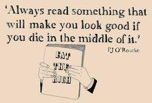 Aforismeja ja muita viisauksia lukemisesta / Oivalla, jaa, tunne! Kirjallisuus on kaikkea tätä.