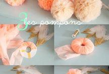 pompones tul