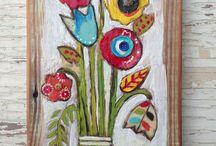 malba na dřevo