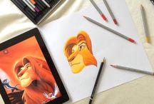 Amateur drawing / Disney,joker,cartoon art works