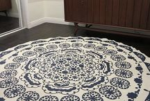 diy rug from tablecloth