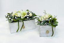 Composiziono fiori finti