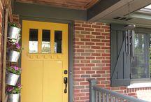 front door colors with red brick