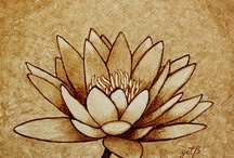 Flower - coffee painting / by Gratia Costin
