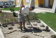jardinagem com pedras