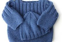 tricot bébé bleu