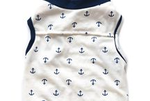 SPRING 2015    anchors & naval stripe /  Set sail this spring in #pennpoochstyle!  The new collection includes the babe tee, the drew tank top, and the emerson hoodie.  Made in California.
