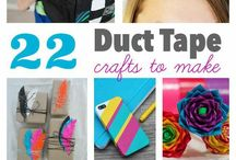 Duct Tape Crafts / All things Duct tape: Pile of craft ideas you can try with your Girl Scout Troop at a party or meeting using Duct tape as main resource.