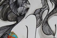 Drawings by artists / by Heidi Bjork