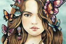 met vlinders