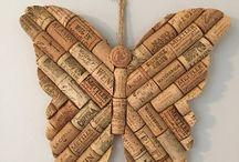 motýl ze špuntů