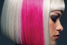 Bold Hair Color + Style / Pink, Teal, Mermaid, Ombre, Platinum, Contrast, Highlights, Short, Long, Curls, Dramatic Hair