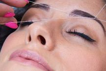 Threading Services at HairVenture Salon / With threading you get a clean perfect eyebrow line as it captures even the finest hairs on the face, neck and chin that mey not be seen when plucking - so the finish can give a very fresh flawless uplifting appearance.
