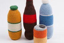 crochet Coke bottle etc