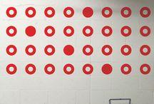 Orange Row wall art ideas