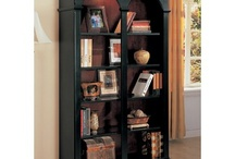 Black and wood colored furniture