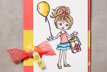 Little girl cards