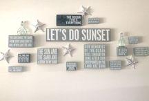 Beach wall decor / Beach signs, wood signs, box signs, beach wall decals...