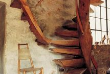 attic stairs possiblities / by Kathryn Colonna