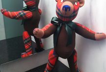 Wales & Scottish Style Teddy Bears / Teddy Bears made of Wales or Scottish fabric style By GSBears, Barcelona