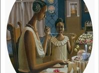 Love for Mom on Mother's Day - African American/ Black Art Print Collection