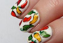 ::: fiesta ::: / fiesta themed nail art / by Kieu Nguyen
