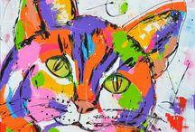 Gekleurde katten