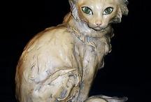 animal ceramics and glass / well made ceramic animals