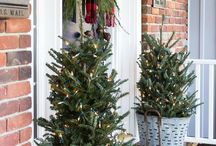 Christmas Entrances / Windows, Doors, Foyers decked with holly!