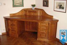 Meble : biurka, lady, inne / Biurko, Lady wykonane na indywidualne zamówienie w naszej stolarni pkzwawel.pl