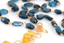 Signature Collection / The Flagship collection of Amy Holton Designs.  Gemstones are intricately woven together in a palette of hues and textures.