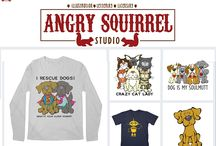 Threadless Artist Shop / https://angrysquirrelstudio.threadless.com/ 100s of designs of t-shirts, tanks, sweatshirts and more featuring whimiscal dog, cat, animal and robot designs for men, women and children are now available. Add some whimsical apparel to your wardrobe. #threadless #artistshop #angrysquirrelstudio