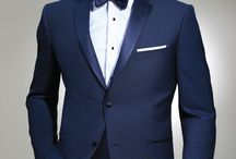 Navy and Cobalt Blue Wedding Tuxedos / Navy and cobalt blue wedding tuxedos are so popular now.  Ike Behar, Michael Kors and Allure for Men all make navy and cobalt blue tuxedos and suits for your wedding and special occasion.  We'd like to show you some of the ones that inspire us.