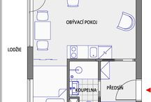 Small flats - ground plan / Ground plan of small flat