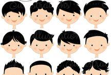 caras cabellos