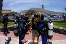 Scuba diving training / PADI, IANTD and GUE Scuba diving training courses in the south of Tenerife. Duikopleidingen Nederlands duikcentrum, padi 5 star.