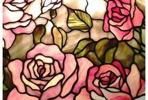 Rose glass on glass