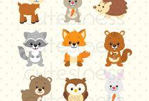 Animais da floresta