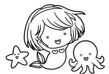 Dibujos de Sirenas / Colorea a las Sirenas más bellas del fondo del mar con una colección de dibujos fantásticos especialmente dedicado a las sirenas. Elige el dibujo que más te guste y podrás imprimirlo, descargarlo o colorearlo online. Mola ¿Verdad?