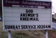 Funny but true church signs