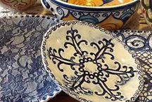 Bright bowls - Beth's pottery.