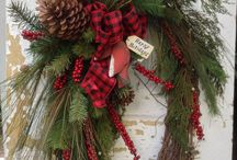 Christmas wreaths and centerpieces