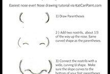 how to draw nose