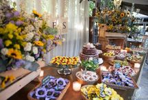 Candies and cakes tables