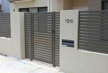 front door + mailbox